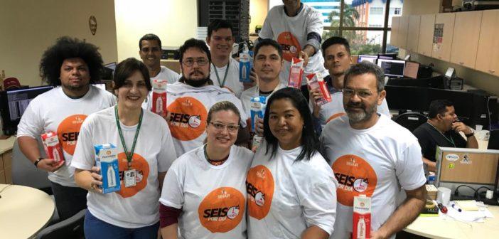 Creche da Vó Maria recebe 150 litros de leite doados por servidores do TJRO