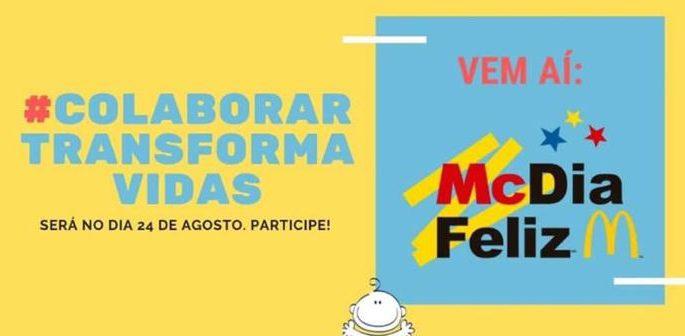 Campanha MCDia Feliz 2019, em prol do Hospital do Amor tem apoio do Sinjur