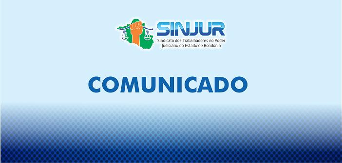 INFORME SINJUR SOBRE ENVIO DE DADOS PARA PAGAMENTO DA RPV