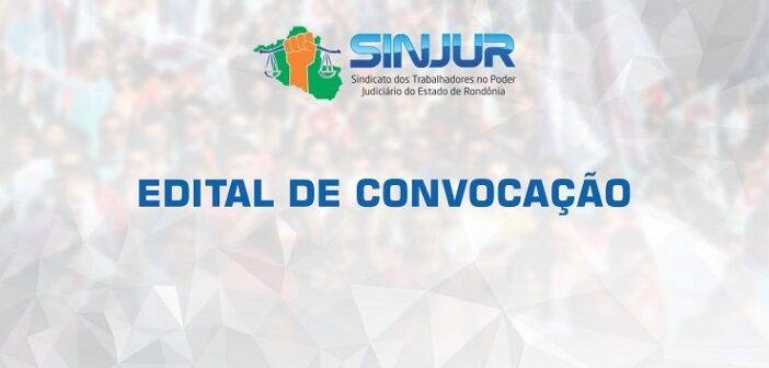 EDITAL DE CONVOCAÇÃO SINJUR NÚMERO 006/2020, PUBLICADO NO DIÁRIO DA JUSTIÇA EM 17/09/2020