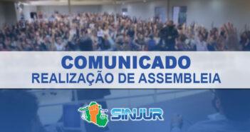 CONVITE SINJUR PARA PARTICIPAÇÃO EM ASSEMBLEIA GERAL DE CRIAÇÃO DO FUNDO ASSISTENCIAL DO FILIADO