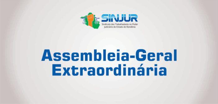Sinjur realiza Assembleia-Geral Extraordinária na sexta-feira (22/11)