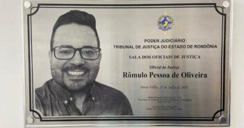 Por indicação do SINJUR, Sala dos Oficiais de Justiça no Fórum Geral, recebe o nome de Rômulo Pessoa