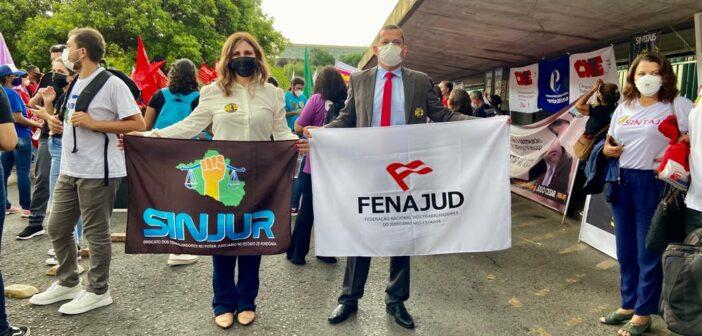 Presidente do SINJUR participa de manifestação em Brasília contra a PEC da Reforma Administrativa